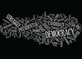 Eternal Vigilance To Protect Democracy Wc Word Cloud Concept Royalty Free Stock Photo