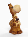 Ð¡lay giraffe figurine Royalty Free Stock Photography