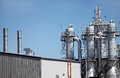 Ethanol plant distillation towers at Stock Images