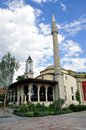 Ethem Bey mosque and clock tower in Tirana. Albania Royalty Free Stock Photo