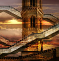 Ethereal towers Royalty Free Stock Photo