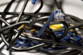 Ethernet cable (4) Stock Image