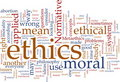 Ethics word cloud Royalty Free Stock Image