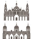 Ethiopia illustration building vector illustration Royalty Free Stock Images