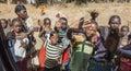 Ethiopian children in small village arfaide near karat konso ethiopia december unidentified despite government efforts to fight Royalty Free Stock Photography