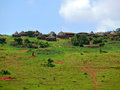Ethiopian national housing of cross border settlement moiale af africa ethiopia Stock Photo