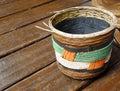 Ethnic african basket handicraft Royalty Free Stock Photo