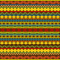 Ethnic African pattern with multicolored motifs Royalty Free Stock Photos