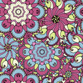 Ethnic arabic, indian ornament. Hand drawn seamless pattern.