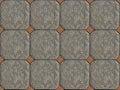 Ethnic Arabic ornaments pattern tiles design Royalty Free Stock Photo