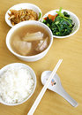 Ethnic asian meal Stock Photography