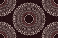 Ethnic aztec circle ornament seamless pattern vector illustration Royalty Free Stock Images