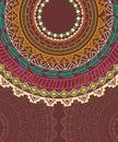 Ethnic aztec circle ornament vector illustration Royalty Free Stock Photography