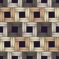 Ethnic boho seamless pattern. Asian Mat. Scribble texture. Folk motif. Royalty Free Stock Photo