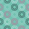 Ethnic boho seamless pattern. Decorative sun. Scribble texture. Retro motif.