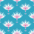 Ethnic boho seamless pattern. Embroidery on fabric. Retro motif.