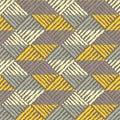 Ethnic boho seamless pattern. Scribble texture. Retro motif.