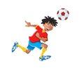 Ethnic boy playing soccer Royalty Free Stock Photo