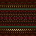 Ethnic, bright, background, Boho pattern, on a dark bro