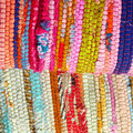 Ethnic carpets closeup colorful background Royalty Free Stock Photography