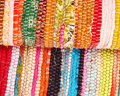Ethnic carpets closeup colorful background Stock Photos