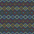 Ethnic colored pattern Stock Images