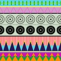 Ethnic colors contemporary seamless colorful pattern Stock Images