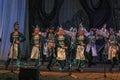 Ethnic dance ensemble folk kazachya volnitsa on a stage of theatre oktober stavropol russia Royalty Free Stock Photo