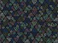 Abstract tribal art ethnic seamless pattern. Ikat. Folk repeating background texture. Geometric print. Fabric design. Vector wallp