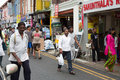 Ethnic district Little India in Singapore Royalty Free Stock Photo