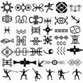 Ethnic elements for design, primitive art Stock Photography