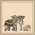 Ethnic elephant indian style hand drawn illustration Stock Photo