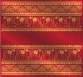 Ethnic elephant pattern background