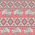 Ethnic elephant seamless vintage for you business Royalty Free Stock Images