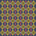 Ethnic floral seamless pattern. Abstract ornamental pattern,EPS 8,EPS 10
