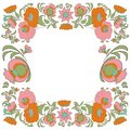 Ethnic flowers Floral folk art vorder Folkart Flower pattern Vintage background Vector illustration Ethnic decoration flowers  fol Royalty Free Stock Photo