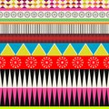 Ethnic forms creative colorful seamless indie pattern Royalty Free Stock Image