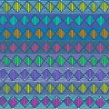 Ethnic geometric seamless pattern colorful african Stock Photography