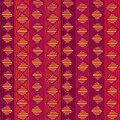 Ethnic geometric seamless pattern red african Stock Images