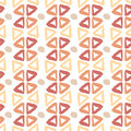 Ethnic hand drawn pattern with triangle ink elements. Seamless texture