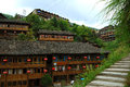 Ethnic minority village guangxi province china very beautiful Royalty Free Stock Image