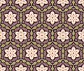 Ethnic modern geometric seamless pattern ornament Royalty Free Stock Image