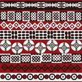 Ethnic pattern with african symbols Royalty Free Stock Photos