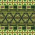 Ethnic pattern with african symbols & ornaments Royalty Free Stock Photo