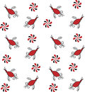 Ethnic pattern with birds and flowers
