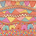 Ethnic pattern bright seamless in indian henna style Royalty Free Stock Photos