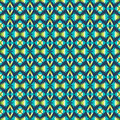 Ethnic pattern with geometric motifs Stock Photography