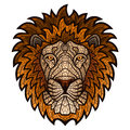 Ethnic patterned ornate head of Lion.