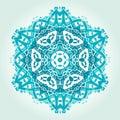 Ethnic Psychedelic Fractal Mandala Vector Meditation looks like Royalty Free Stock Photo