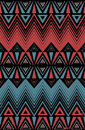 Ethnic retro style pattern removable distress effect geometric in Royalty Free Stock Photography